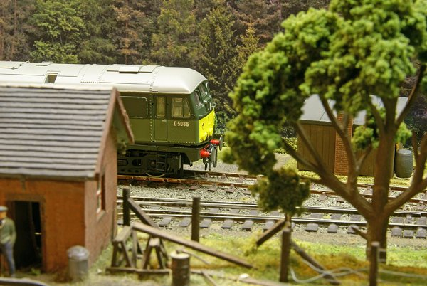 Class 25 passing the weighbridge