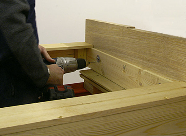LEVELLED FRAMES DRILLED FOR JOINING BOLTS
